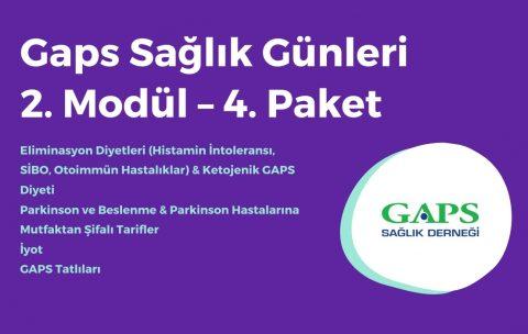Gaps Sağlık ve Mutfak Günleri 2. Modül 4. Paket